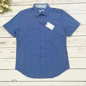 Robert Graham chiton shirtsleeve shirt NWT